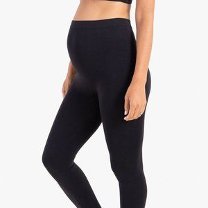 Thyme Maternity Black Seamless Over Bump Leggings